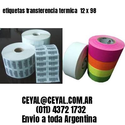 etiquetas transferencia termica  12 x 98