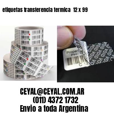etiquetas transferencia termica  12 x 99