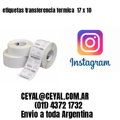 etiquetas transferencia termica  17 x 10