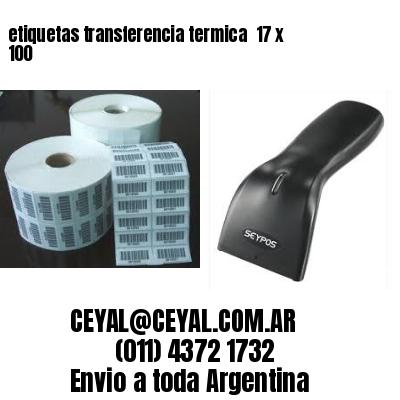 etiquetas transferencia termica  17 x 100