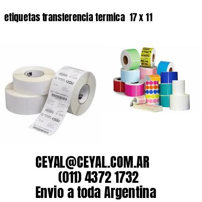 etiquetas transferencia termica  17 x 11