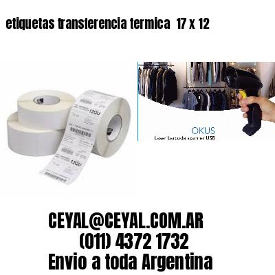 etiquetas transferencia termica  17 x 12
