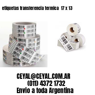 etiquetas transferencia termica  17 x 13