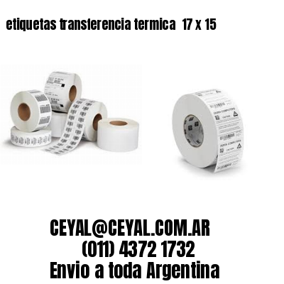etiquetas transferencia termica  17 x 15