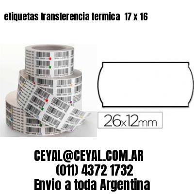 etiquetas transferencia termica  17 x 16