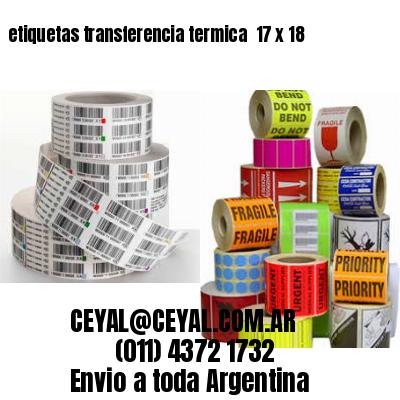 etiquetas transferencia termica  17 x 18