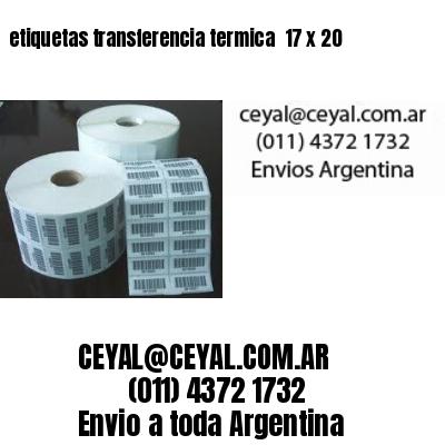 etiquetas transferencia termica  17 x 20