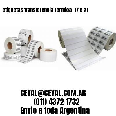etiquetas transferencia termica  17 x 21