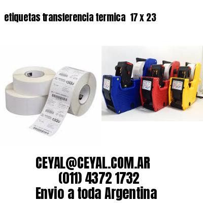 etiquetas transferencia termica  17 x 23