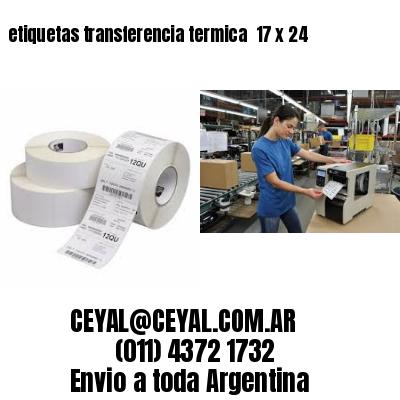 etiquetas transferencia termica  17 x 24