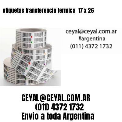 etiquetas transferencia termica  17 x 26