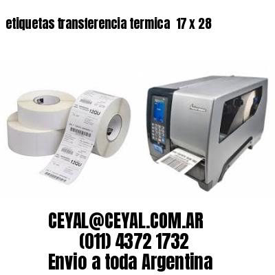 etiquetas transferencia termica  17 x 28