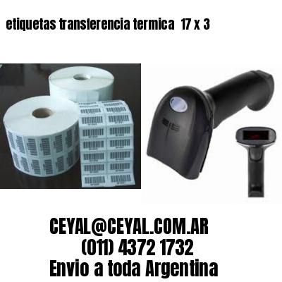 etiquetas transferencia termica  17 x 3