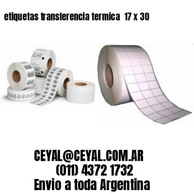 etiquetas transferencia termica  17 x 30