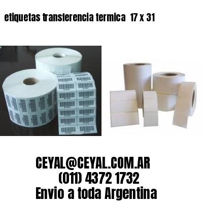 etiquetas transferencia termica  17 x 31