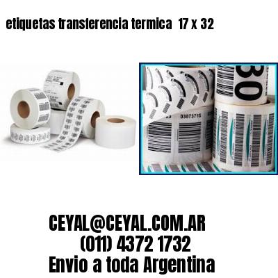 etiquetas transferencia termica  17 x 32