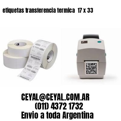 etiquetas transferencia termica  17 x 33