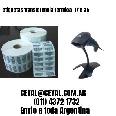 etiquetas transferencia termica  17 x 35