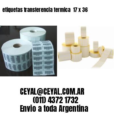 etiquetas transferencia termica  17 x 36