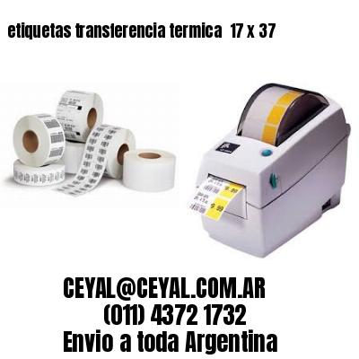 etiquetas transferencia termica  17 x 37
