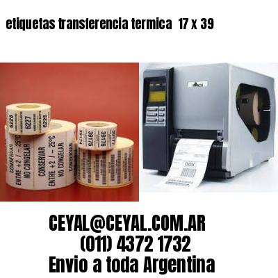 etiquetas transferencia termica  17 x 39