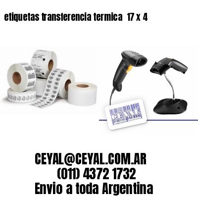 etiquetas transferencia termica  17 x 4