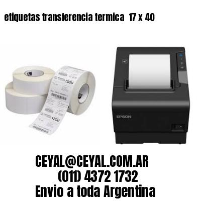 etiquetas transferencia termica  17 x 40