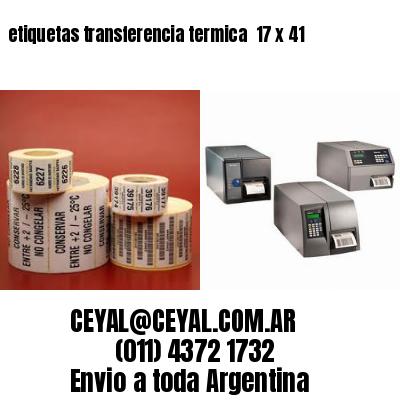 etiquetas transferencia termica  17 x 41