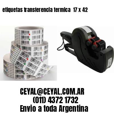 etiquetas transferencia termica  17 x 42