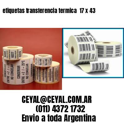 etiquetas transferencia termica  17 x 43