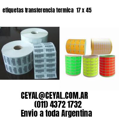 etiquetas transferencia termica  17 x 45