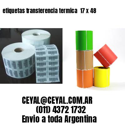 etiquetas transferencia termica  17 x 48