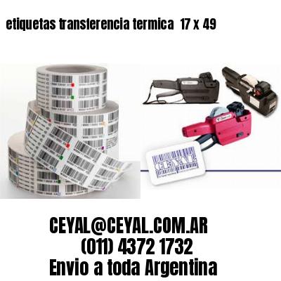 etiquetas transferencia termica  17 x 49