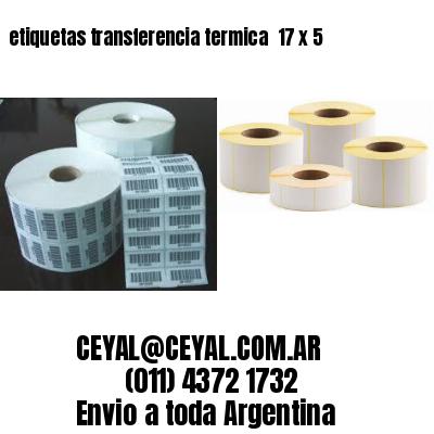 etiquetas transferencia termica  17 x 5
