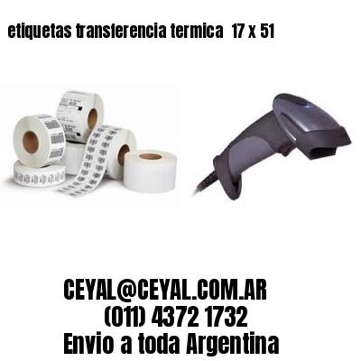etiquetas transferencia termica  17 x 51