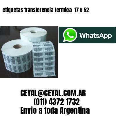 etiquetas transferencia termica  17 x 52