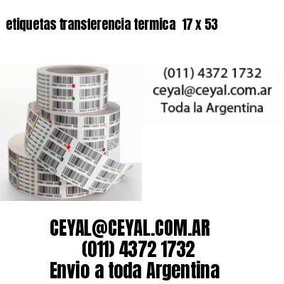 etiquetas transferencia termica  17 x 53