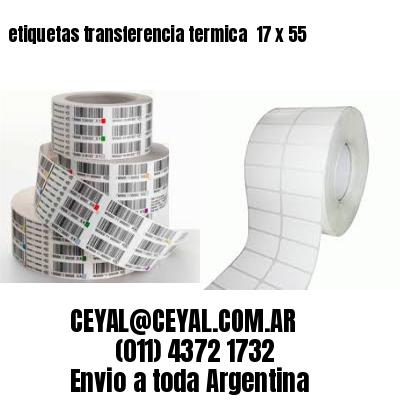 etiquetas transferencia termica  17 x 55