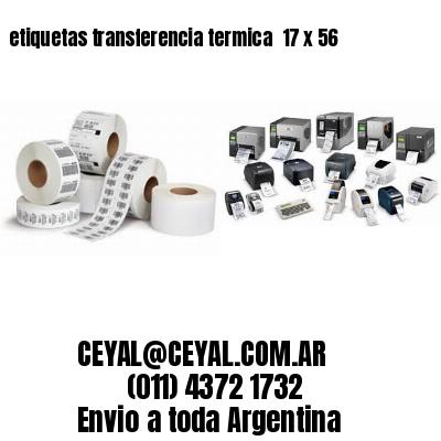 etiquetas transferencia termica  17 x 56