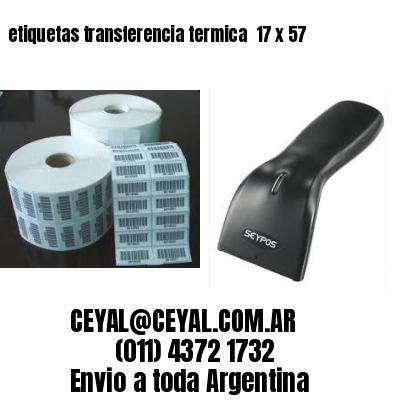 etiquetas transferencia termica  17 x 57