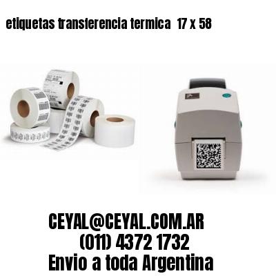 etiquetas transferencia termica  17 x 58