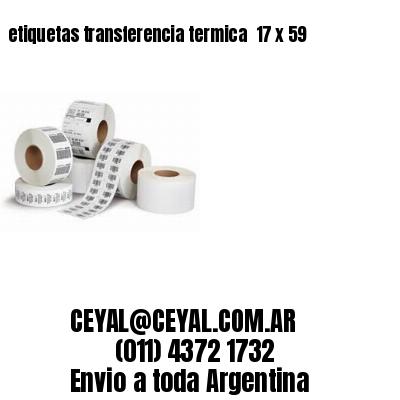 etiquetas transferencia termica  17 x 59