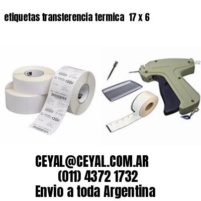 etiquetas transferencia termica  17 x 6