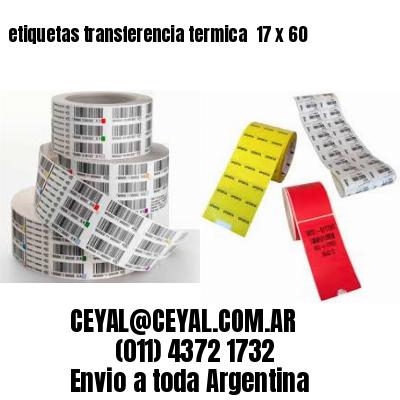etiquetas transferencia termica  17 x 60