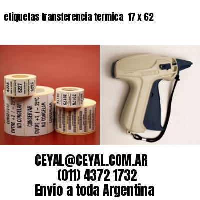 etiquetas transferencia termica  17 x 62