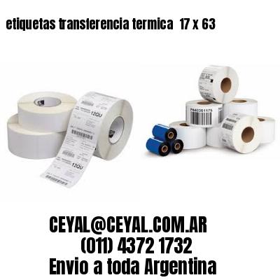 etiquetas transferencia termica  17 x 63