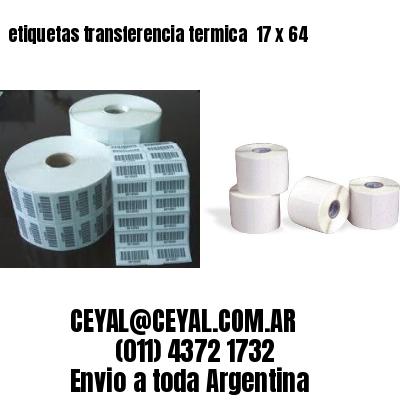 etiquetas transferencia termica  17 x 64