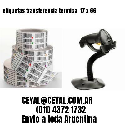 etiquetas transferencia termica  17 x 66