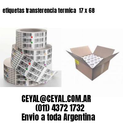 etiquetas transferencia termica  17 x 68