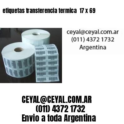 etiquetas transferencia termica  17 x 69